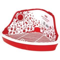 ZOLUX Toaleta narożna dla gryzoni Czerwona