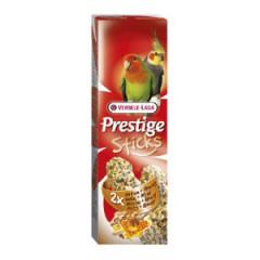 VERSELE-LAGA Prestige Sticks Big Parakeets Nuts&Honey - kolby orzechowo-miodowe dla średnich papug 140g