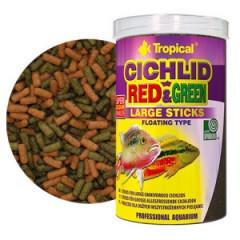 TROPICAL Cichlid Red & Green Large Sticks - pokarm dla dużych pielęgnic