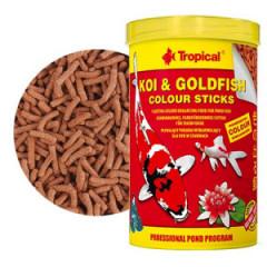 TROPICAL Koi Goldfish Colour Sticks - pokarm wybarwiający dla koi i złotych rybek