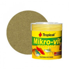 TROPICAL Mikrovit Vegetable - pokarm roślinny dla narybku 50ml/32g
