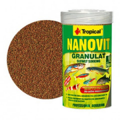 TROPICAL Nanovit Granulat - pokarm dla małych ryb akwariowychi narybku
