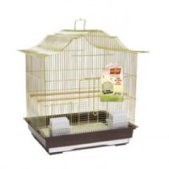 VITAPOL Klatka dla ptaków 47 x 36 x 55,5cm złoto / brązowa