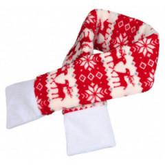 TRIXIE Szalik świąteczny czerwono - biały
