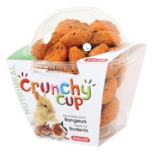 ZOLUX Crunchy Cup Candy - przysmaki dla gryzonia marchewka/siemię lniane 200g