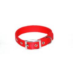 DINGO Obroża Extra z taśmy - czerwona