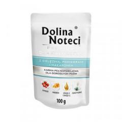 DOLINA NOTECI Premium Małe Rasy - Cielęcina z pomidorami i makaronem (saszetka)