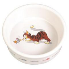 TRIXIE Miska ceramiczna dla kota z motywem 0,2l / 11cm