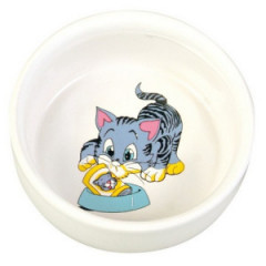TRIXIE Miska ceramiczna dla kota z motywem 0,3l / 11cm