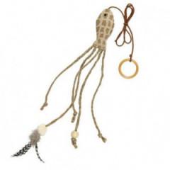 TRIXIE Ryba z piórkiem i sznurkami 27cm