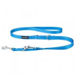 AMIPLAY Smycz regulowana 6 in 1 Reflective 100-200 cm - Niebieska