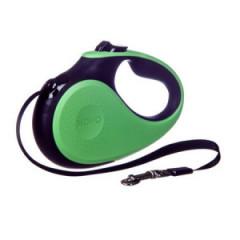 BARRY KING Smycz automatyczna dla psa M (taśma) 5m, do 25kg - zielono/czarna