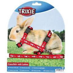 TRIXIE Szelki ze smyczą dla królika z motywem 25-44cm/10mm