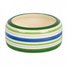 TRIXIE Miska ceramiczna w zielone paski 500ml - króliki