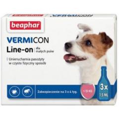 BEAPHAR Vermicon Line-On Dog - 3 pipety kropli przeciwpchłowych dla psów