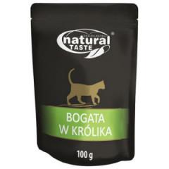 NATURAL TASTE Cat Bogata w królika 100g (saszetka)