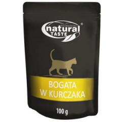 NATURAL TASTE Cat Bogata w kurczaka 100g (saszetka)