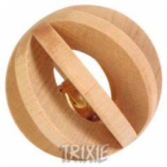 TRIXIE Drewniana piłka z dzwonkiem 6cm