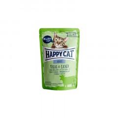 HAPPY CAT All Meat Adult Cielęcina i jagnięcina - saszetka 85g