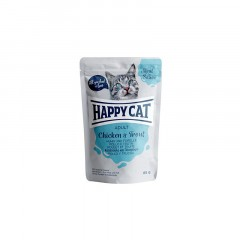 HAPPY CAT Adult Kurczak i pstrąg w sosie - saszetka 85g