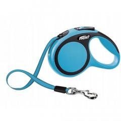 FLEXI Smycz automatyczna New Comfort Taśma - niebieska