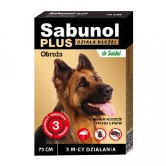 SABUNOL Plus - Obroża dla psa o przedłużonym działaniu do 5mc (75cm)