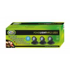 AQUA NOVA Wodoodporna lampa LED 3x 2,2W, 12V