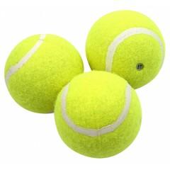AQUA NOVA Piłki tenisowe piszczące 6cm | 3 sztuki w zestawie