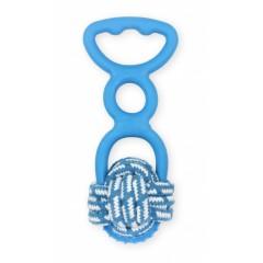 AQUA NOVA Zabawka węzeł i uchwyt do przeciągania 20cm - niebieska