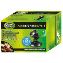 AQUA NOVA Wodoodporna lampa LED 1x 1W, 12V, szkiełka kolorowe