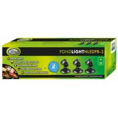 AQUA NOVA Wodoodporna lampa LED 3x 1W, 12V, szkiełka kolorowe