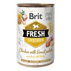 BRIT FRESH Chicken & Sweet Potato - Kurczak i słodkie ziemniaki 400g