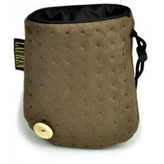 LAUREN DESIGN Pikowana torebka na smakołyki 15 x 13 cm - brązowa