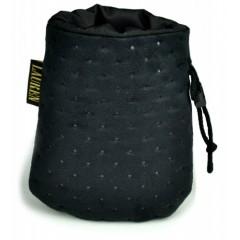 LAUREN DESIGN Pikowana torebka na smakołyki 15 x 13 cm - czarna