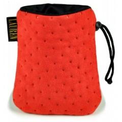 LAUREN DESIGN Pikowana torebka na smakołyki 15 x 13 cm - czerwona