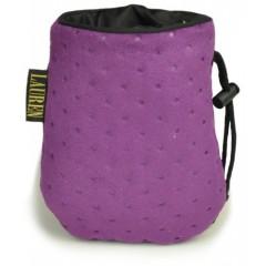 LAUREN DESIGN Pikowana torebka na smakołyki 15 x 13 cm - fioletowa