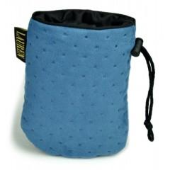 LAUREN DESIGN Pikowana torebka na smakołyki 15 x 13 cm - granatowa