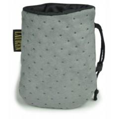 LAUREN DESIGN Pikowana torebka na smakołyki 15 x 13 cm - szara