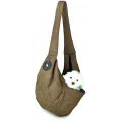 LAUREN DESIGN Pikowana torba / nosidło SARA 50 x 22 x 22 cm - brązowe