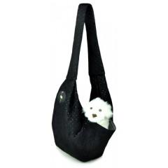 LAUREN DESIGN Pikowana torba / nosidło SARA 50 x 22 x 22 cm - czarna