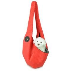 LAUREN DESIGN Pikowana torba / nosidło SARA 50 x 22 x 22 cm - czerwona