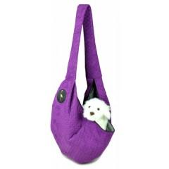 LAUREN DESIGN Pikowana torba / nosidło SARA 50 x 22 x 22 cm - fioletowa