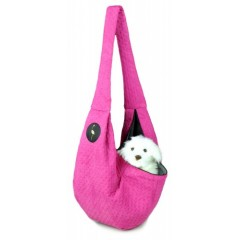 LAUREN DESIGN Pikowana torba / nosidło SARA 50 x 22 x 22 cm - różowa