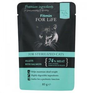 FITMIN For Life Cat Sterilized Salmon - saszetka 85g
