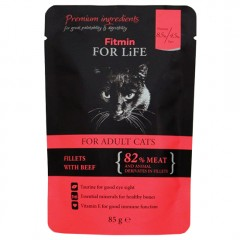 FITMIN For Life Cat Adult Beef - saszetka 85g