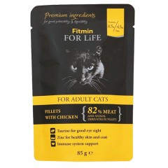FITMIN For Life Cat Adult Chicken - saszetka 85g