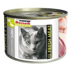 SUPER BENEK CAT Meat Indyk z kaczką (puszka)