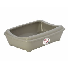 PET NOVA Cat Life Kitty Tray - Kuweta otwarta z ramką - szara M