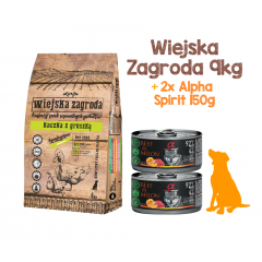 WIEJSKA ZAGRODA Kaczka z gruszką 9kg + 2x Alpha Spirit 150g GRATIS