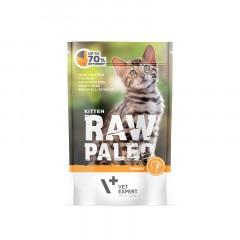 RAW PALEO Kitten Turkey 100g (saszetka) indyk - dla kociąt